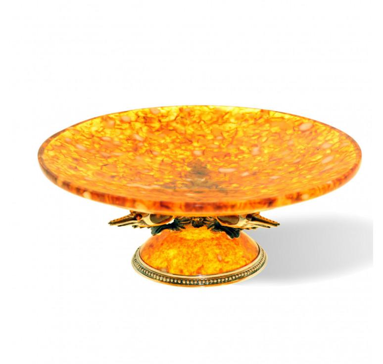 Блюдо «Креветки» из янтаря
