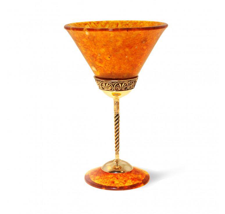 Бокал для мартини «Антик» из янтаря