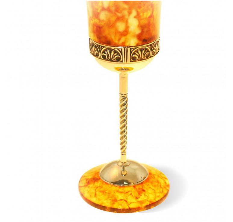 Бокал для вина «Антик» из янтаря