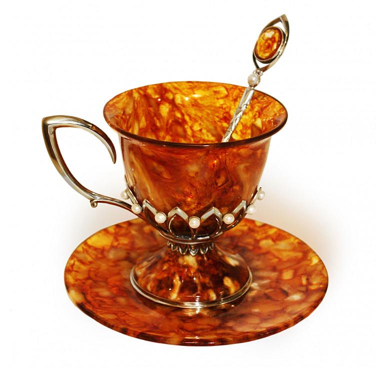 Чашка чайная «Императрица» с ложкой
