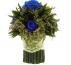 Букет синих роз папоротник маленький Ø14 H15
