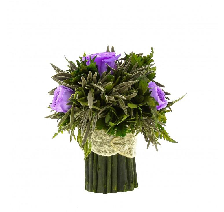 Букетик Папоротник маленький H15 лилового цвета