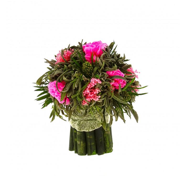 Букетик Лаванда маленькая Ø14 H15  розового цвета розочки