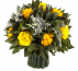 Букетик  Вельвет Цинерия Ø18 H18.5 цвет жёлтый