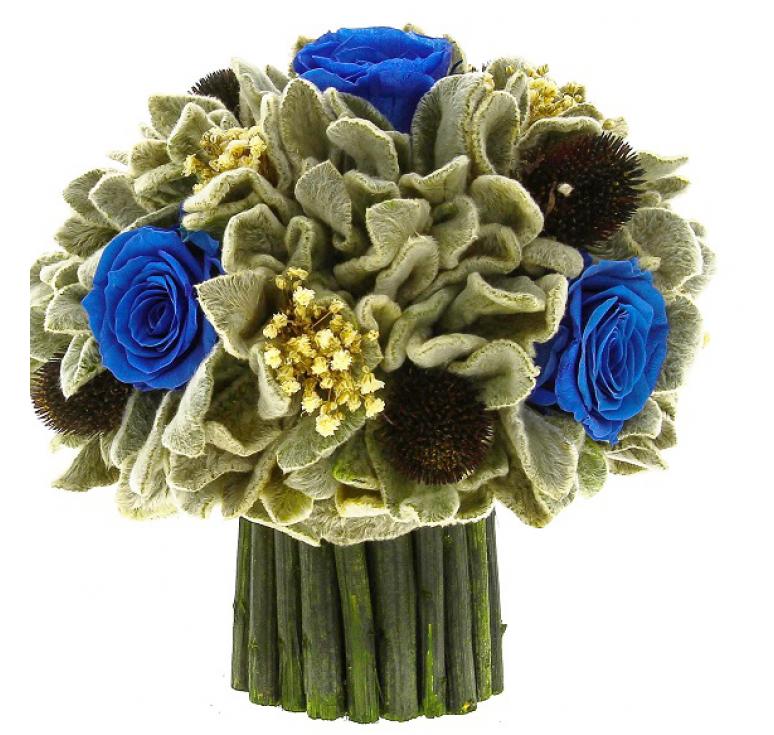 Букетик чистец Ø18 H18.5 цвет роз синий
