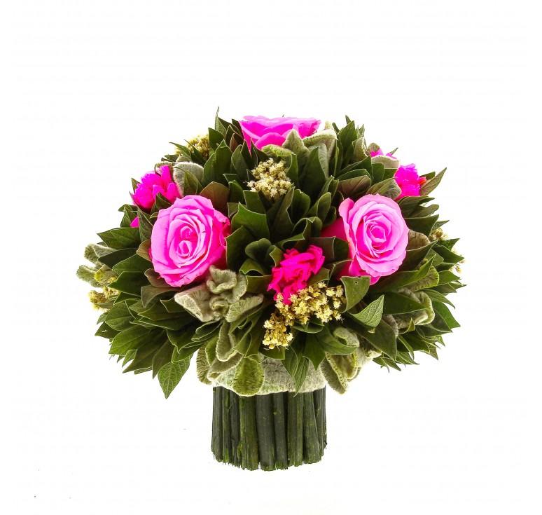 Букетик розовый Вельвет Чистец Ø18 H18.5 в коробке