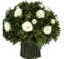 Букет из белых роз и лаванды