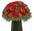Букет красных роз Лаванда Зелёная Средний бутон Ø28 H28