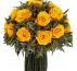 Букет из зеленой лаванды, диаметр 19 , высота 19 цвет роз оранжевый