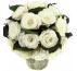 Букет из средних белых роз 19 см с лавандой