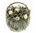 Корзинка Петит Чистец маленькая с белыми розами Ø11 H10