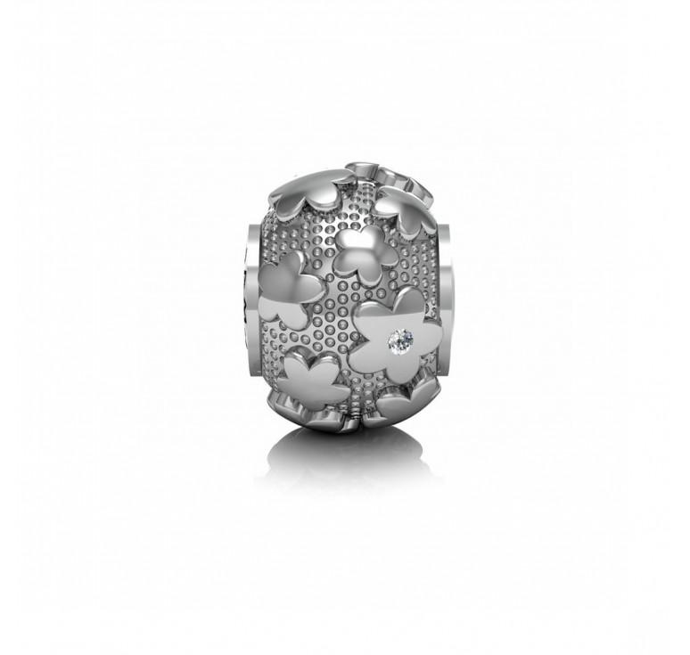 Браслетик серебро+муранское стекло и эмаль