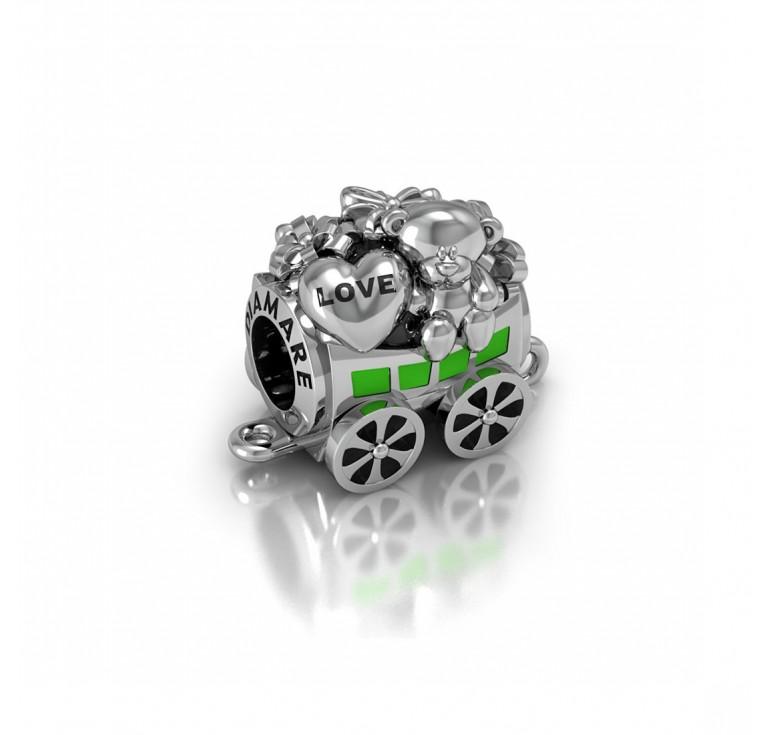 Подвеска серебряная  в виде вагона