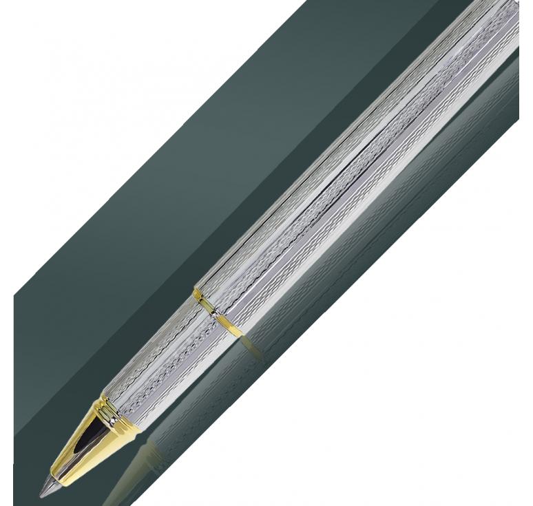 Серебряная ручка, покрытие золотом и родием