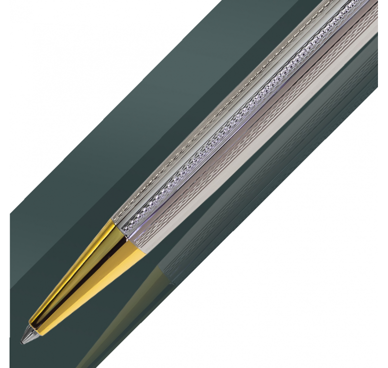 Подарочная ручка из серебра 925 с покрытием родием и золотом