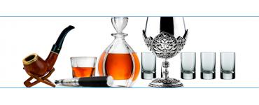 Аксессуары для алкоголя наборы для виски, коньяка, водки и трубки курительные и мини-бары