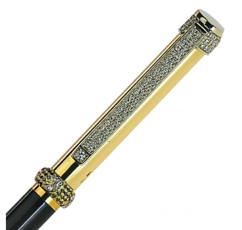 """Ручка золотая подарочная сувенирная """"Black Diamond-100"""""""