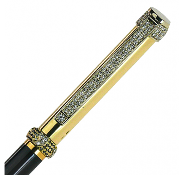 "VIP ручка из золота,  ""Black Diamond-100"""