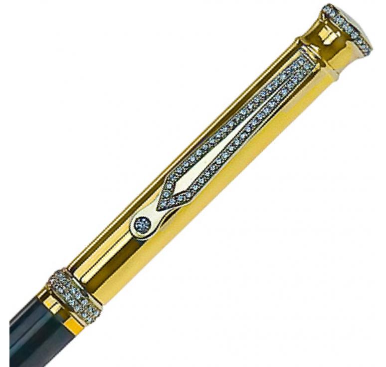"Ручка золотая ""Diamond-101"" 116 бриллиантов"