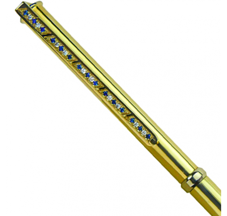 """Подарочная сувенирная ручка золотая """"Sapphire-02"""""""
