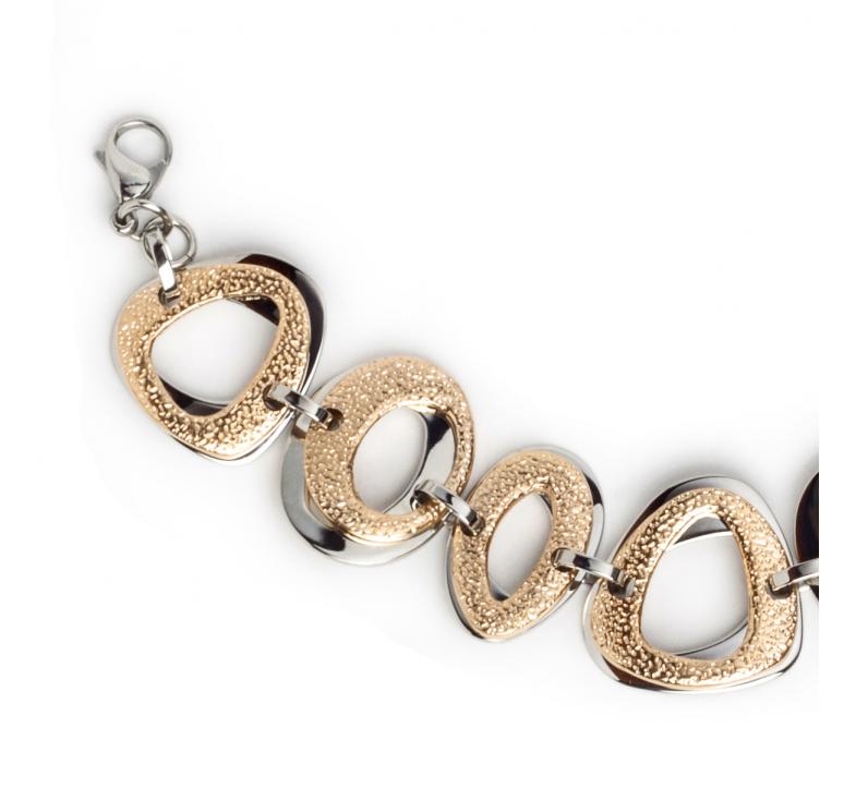 Женский браслет из ювелирной стали  крупными звеньями