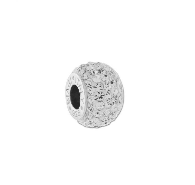 Бусина для браслета в стиле пандора с кристаллами сваровски