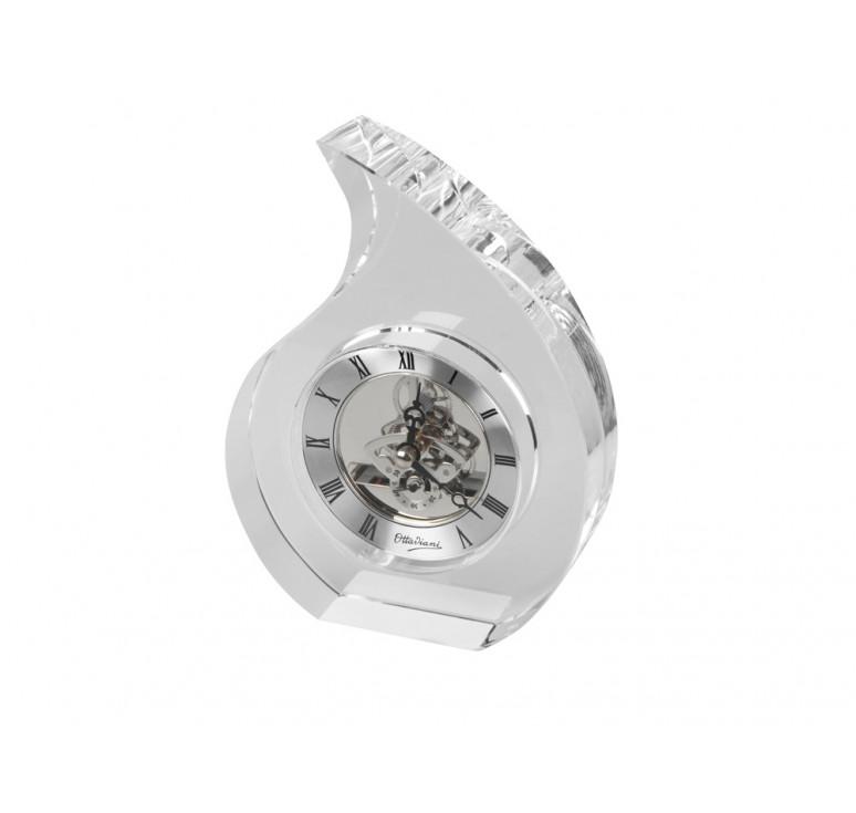 Часы настольные Шельф Ottaviani, прозрачный/серебристый