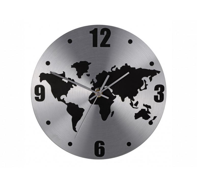 Часы настенные Торрокс, серебристый/черный (Р)
