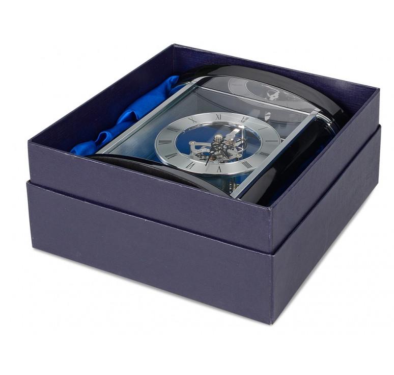 Часы настольные Ковингтон, черный/серебристый (Р)