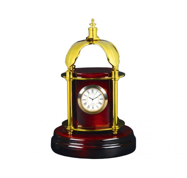 Часы настольные Султан, красное дерево/золотистый