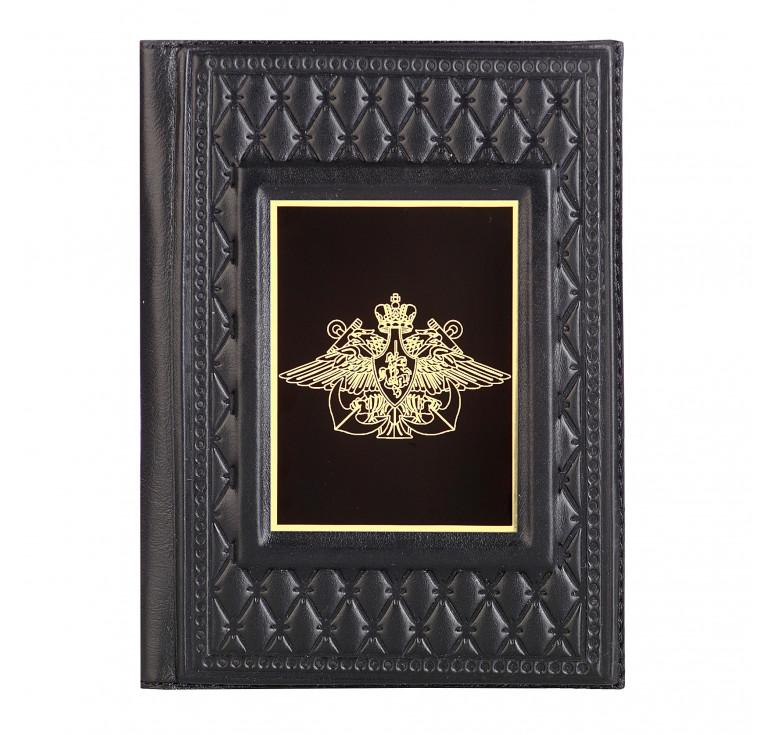 Обложка для паспорта «Военно-Морской флот-2» с накладкой из стали