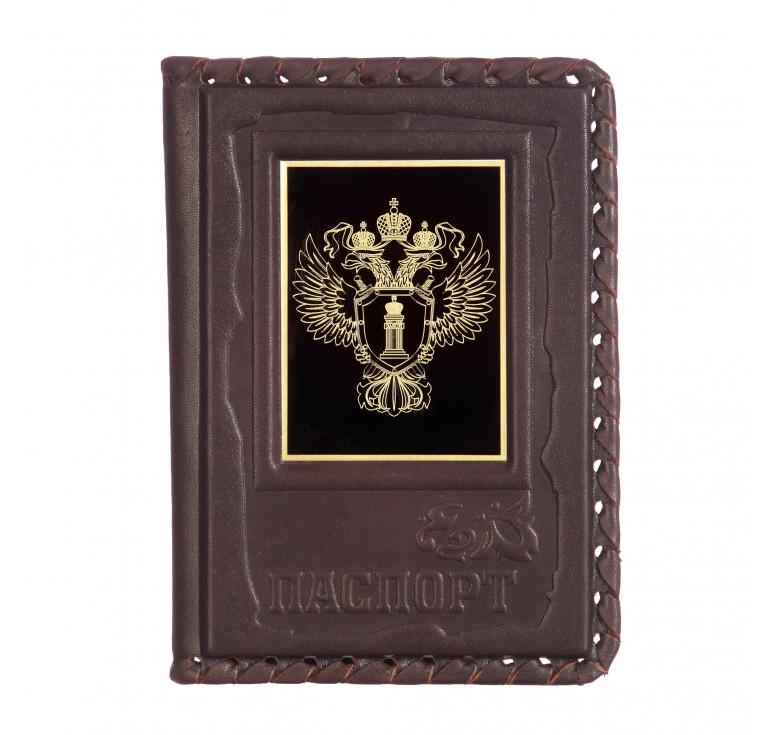 Обложка для паспорта «Прокуратура-1» с накладкой из стали