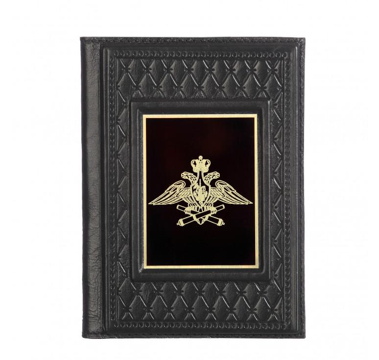Обложка для паспорта «Артиллерия-2» с накладкой из стали