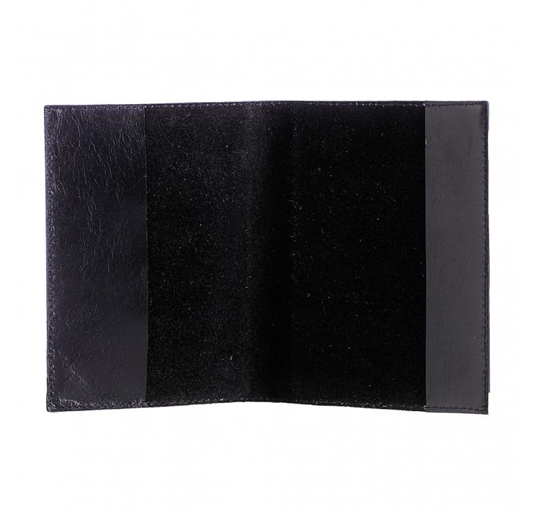 Обложка для паспорта «Уголовный розыск-2» с накладкой из стали