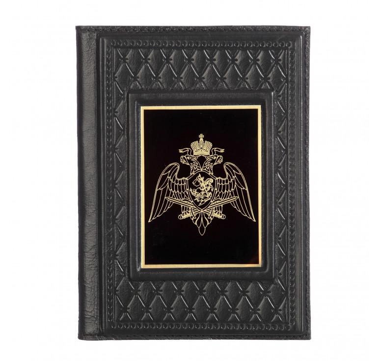 Обложка для паспорта «Росгвардия-2» с накладкой из стали