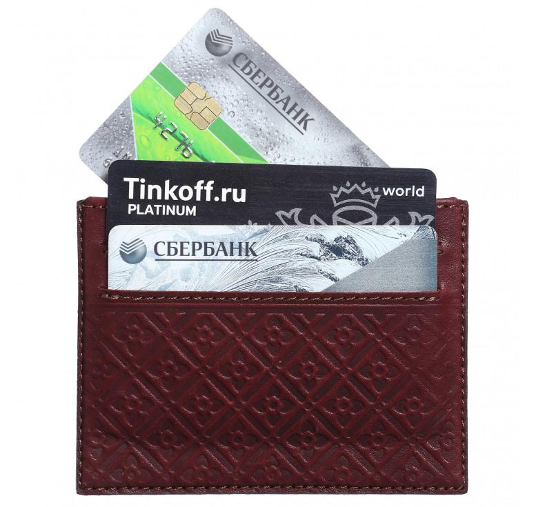 Футляр для кредитных карточек «Луидор» коричневый