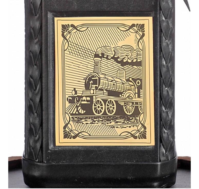 Графин «Железнодорожнику-4» с накладкой покрытой золотом 999 пробы