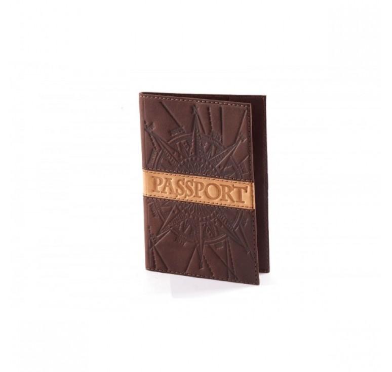 Обложка для паспорта «Роза ветров» 009-07-07М