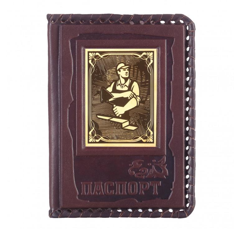 Обложка для паспорта «Строителю» 1