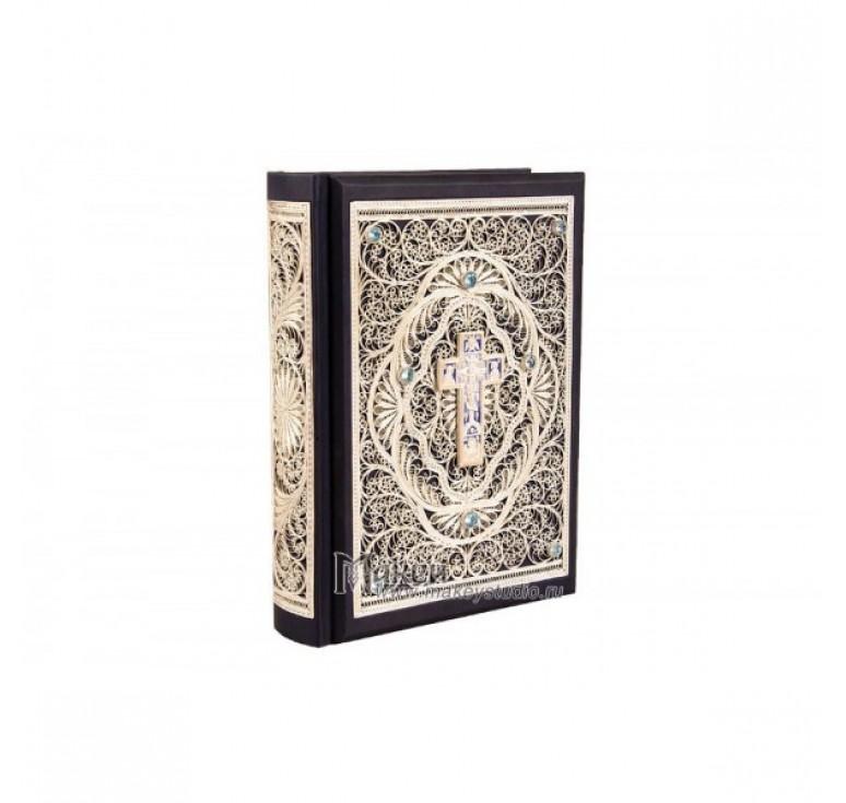 «Библия большая с филигранью» 028 (ф)