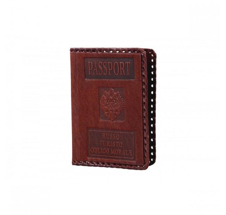 Обложка для паспорта «Руссо туристо» 009-07-М81