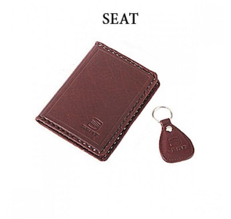 Обложка для водительского удостоверения с брелком «SEAT» 065-07-10К