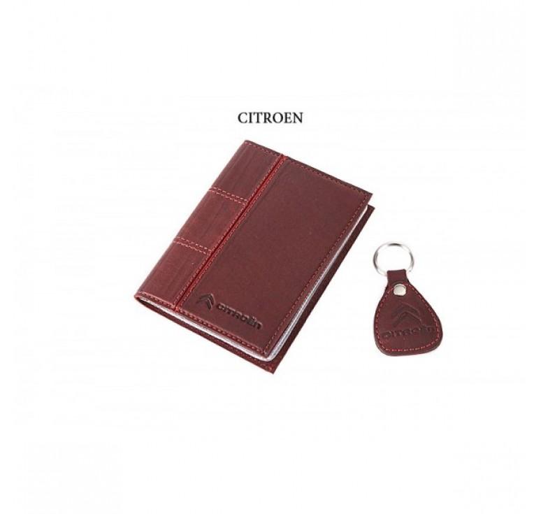 Обложка для водительского удостоверения с брелком «CITROEN» 065-07-50М