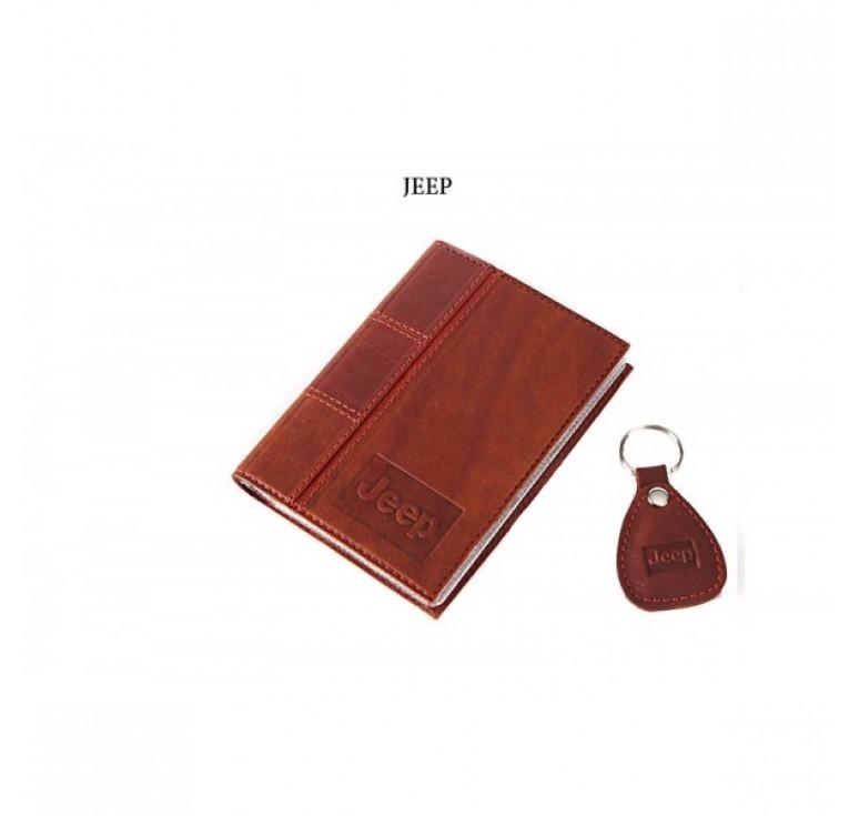 Обложка для водительского удостоверения с брелком «JEEP» 065-07-64М