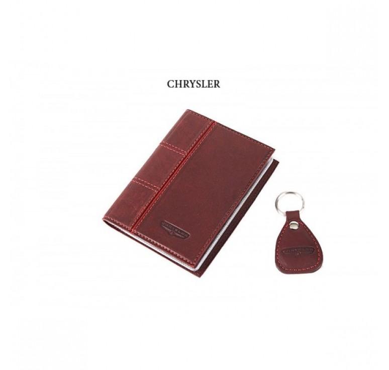 Обложка для водительского удостоверения с брелком «CHRYSLER» 065-07-65М