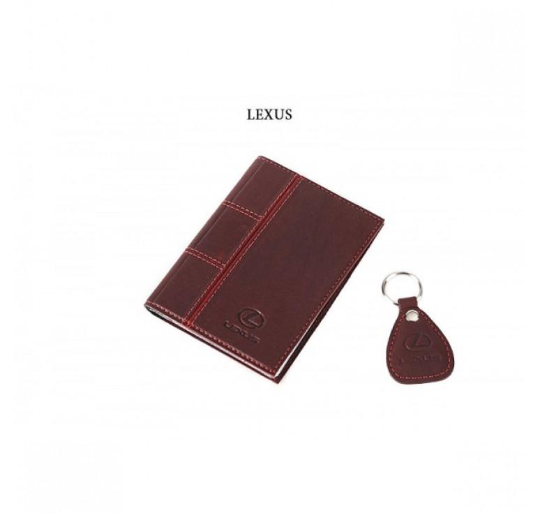 Обложка для водительского удостоверения с брелком «LEXUS» 065-07-68М
