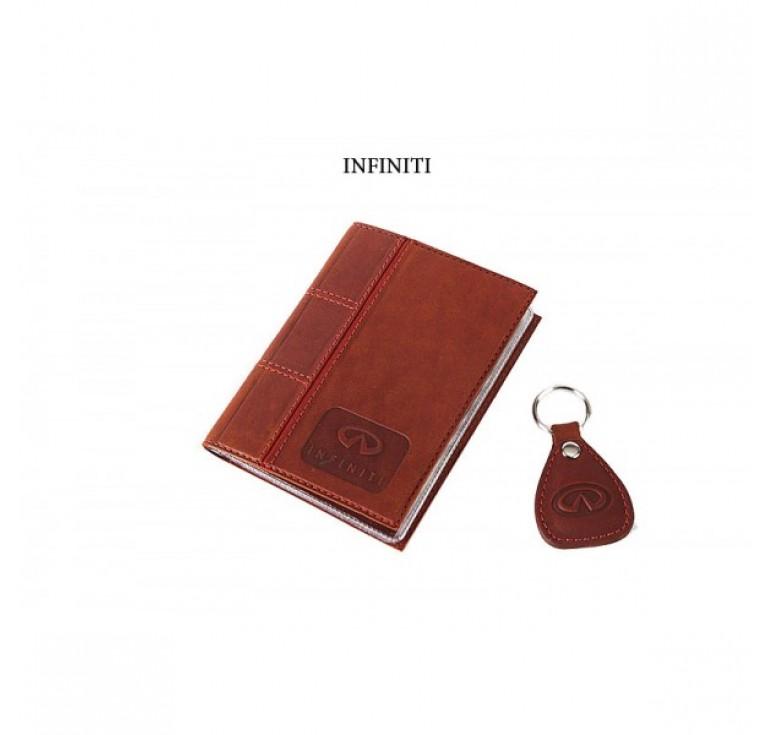 Обложка для водительского удостоверения с брелком «INFINITI» 065-07-69М