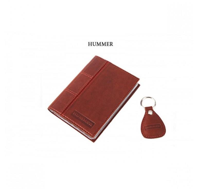 Обложка для водительского удостоверения с брелком «HUMMER» 065-07-71М