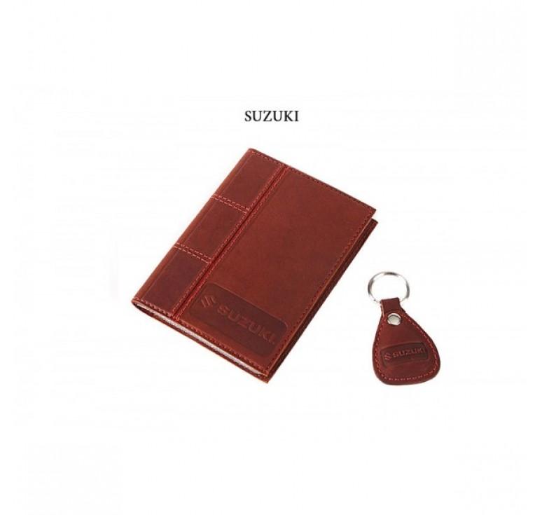 Обложка для водительского удостоверения с брелком «SUZUKI» 065-07-72М