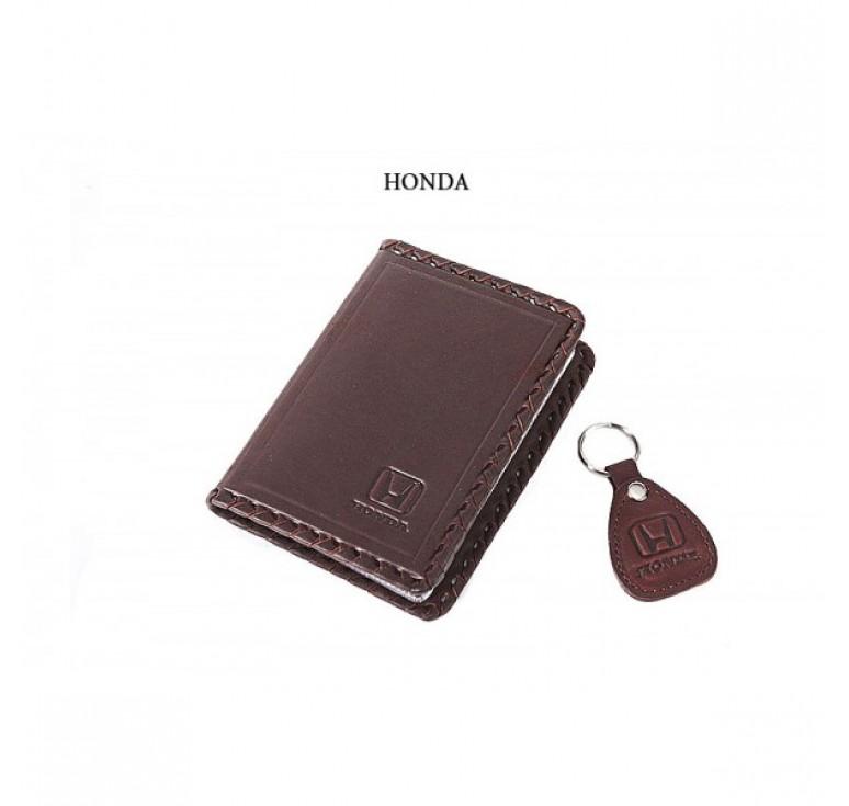 Обложка для водительского удостоверения с брелком «HONDA» 065-07-16К